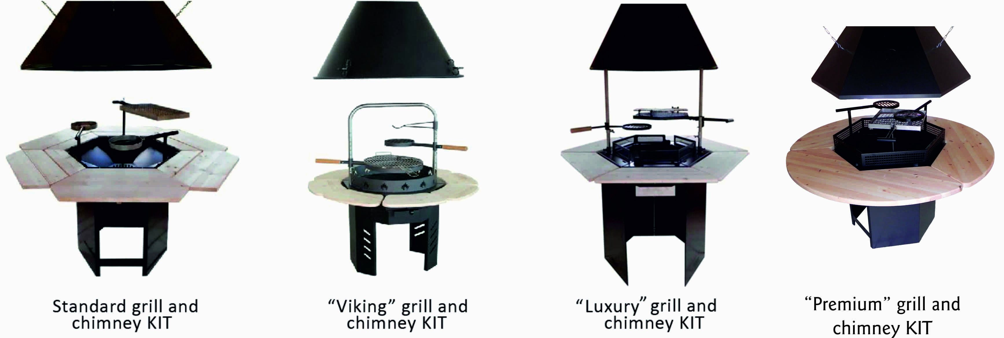 Grill and chimney kit